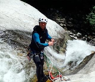 Fred Vallet, moniteur Canyon