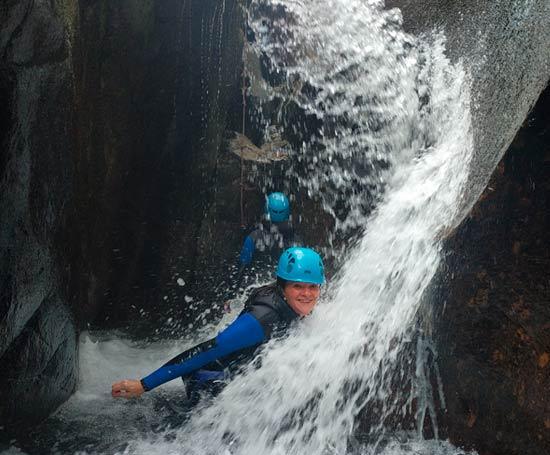 Etroitures dans le canyon du Tapoul