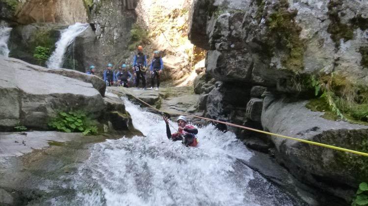 Toboggan naturel, canyoning du Tapoul