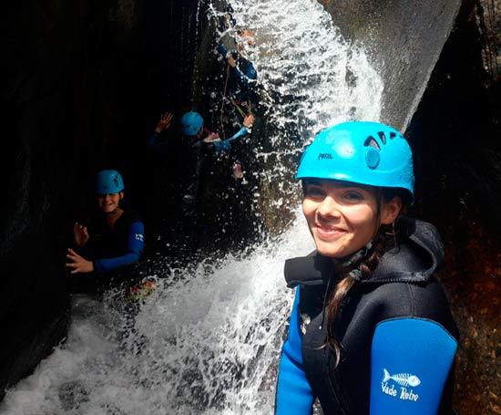 Passages étroits dans le canyon du Tapoul
