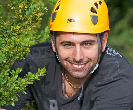 Portrait de grimpeur