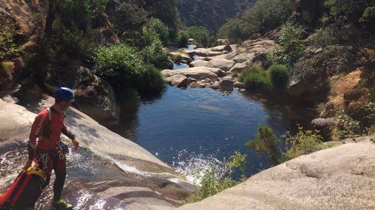 Toboggan dans la vallée du Jerte
